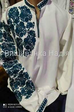 Чоловіча вишиванка СЯЙВО в бірюзовому кольорі