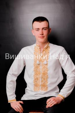 Чоловіча вишиванка ГАРМОНІЯ в золотому кольорі