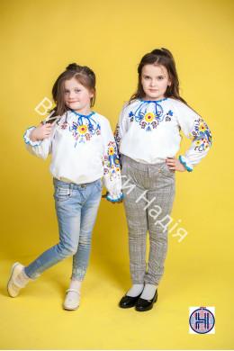 Вишита блузка для дівчинки СОНЕЧКО