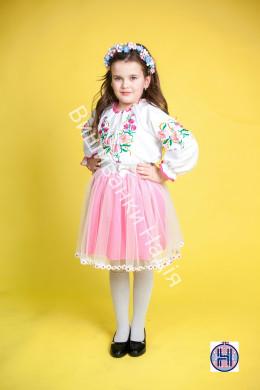 Вишиванка для дівчинки РОМАШЕЧКА в рожевому кольорі