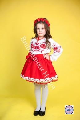 Вишиванка для дівчинки ДЕРЕВО ЖИТТЯ в червоному кольорі