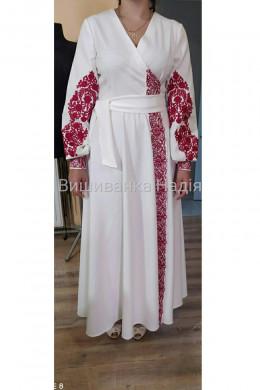 Вишита жіноча сукня МЕЛОДІЯ КОХАННЯ в червоному кольорі