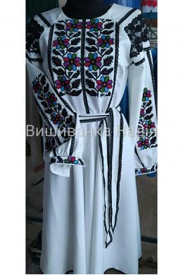 Вишита жіноча сукня БОРЩІВКА в стилі family look