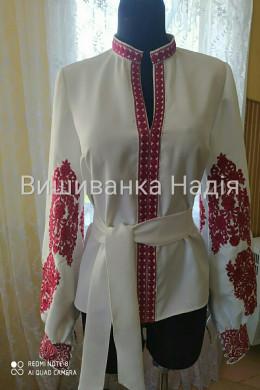 Вишита жіноча блузка ПОЛУМ'Я