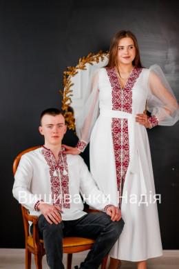 Пара МЕЛОДІЯ ДВОХ СЕРДЕЦЬ в червоному кольорі